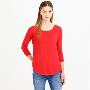 J.Crew | XXS | Long-Sleeve Linen/Cotton T-Shirt